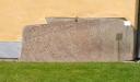 Runstenen som är inmurad i väggen har tydliggjorts