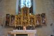 Dopfunten från 1200-talet har åter fått sin plats i koret