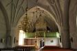 Den vackert arbetade predikstolen från 1651 utförd av Pedher Arffvidsson