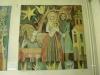 Konungarna hyllar Jesusbarnet. Fyra gobelänger i bakre delen av kyrkan