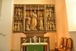 Sidokapellets vackra altarskåp från  omkr. 1500