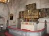 Korpartiet med bl.a. det flamlänska altarskåpet där madonnan är centralfigur. Juli 2009