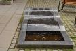 Rogivande vattenskulptur på innergården