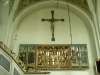 Det stora altarskåpet på korets norrvägg