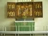 Ett av tre medeltida altarskåp
