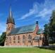 Den märkliga dopfunten från gamla kyrkan. Foto: Åke Johansson.