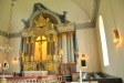 Mycket effektfullt med ljuset i altaruppsättningen