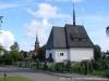 Bureå kyrka med Gravkapellet.