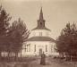 Tidigt foto av kyrkan med svart torn