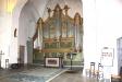 Kyrkan magnifika barockpredikstol.