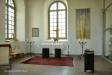 Det bakom glasvägg inredda kapellet