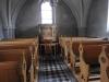 Predikstolen numera undanställd i norra korsarmen.