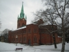 Predikstolen är från kyrkans byggår 1882