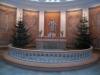 En kopia av Thorvaldsens Kristusbild i centrum. Foto:Bertil Mattsson