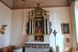 Altaruppsats från 1600-talet vars tavla är gjord av konterfejaren mäster Erik Olofsson i Örebro