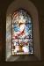 Det fjärde fönster i koret är lite av lite enklare slag.