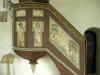 Del av smidesbeslagen dörr från 1400-talet finns i vapenhuset