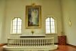 Altartavlan är målad av Emma Sparre (f. Munktell)