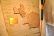 Tavla som visar hur Aspeboda kyrka såg ut förr