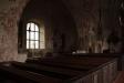 Interiör Vika kyrka.