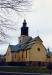 Kyrkans olika plandelar framgår här med bl a det lägre koret