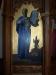 Detalj från predikstolen med bilden av Moses och Shiva.