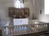 De medeltida takstolarna över långhuset är en i dag väl bevarade