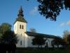 Edsvära kyrka i kvällssol. Foto:Bertil Mattsson