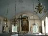 Predikstolen från 1840-talet är tillverkad av snickaren Pelican.