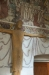 Krucifixet på korets nordvägg ger uråldrigt intryck.