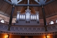 Orgel från 1875 med 7 stämmor och är i funktion.