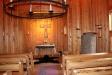 Kyrksalen i Skaga kapell från altaret
