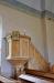 Predikstolen som tidigare hängt ovanför altaret