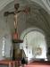 Närbild av det utsökta altarskåpet från omkr.1500