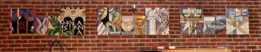 Mosaik på norra väggen
