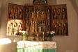 Altarskåpet som uppges haft en inskrift med tillverkarens namn Anders Boetius och årtalet 1501