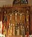 Mittpartiet av altarskåpet. S. Barbara nederst till höger.