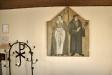 Skåpdörrarna till det gamla altarskåpet(som nu hänger vid dopfunten)