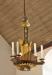 Även ljuskronorna är träarbeten av Albin Helldén