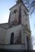 På kyrkans ena sida har väder och vind satt sina spår.
