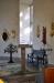 Ovanför sakristiedörren hänger en tavla av Einar Forseth.