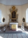 Vacker guldmosaik på altaret