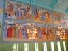 Långväggens målningar med passionstema.