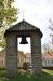 Gamla storklockan har fått en egen plats på kyrkogården