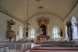 Bakre delen av kyrkan har skärmats av med en glasvägg