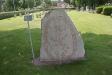 På kyrkogården finns en runsten från 1000-talet.