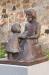 ´Låt barnen komma till mig.´ Skulptur av Bianca Maria Barmen utanför kyrkan.