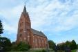 En ståtlig kyrka. Bilden är tagen 2013-08-19.