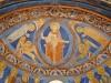 Kristusbilden är ommålad med den korsfäste i Faderns knä. Foto Stig Alenäs
