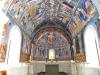 Koret skimrar i blått! Två apostlar vid fönstret är nymålade. Foto Stig Alenäs